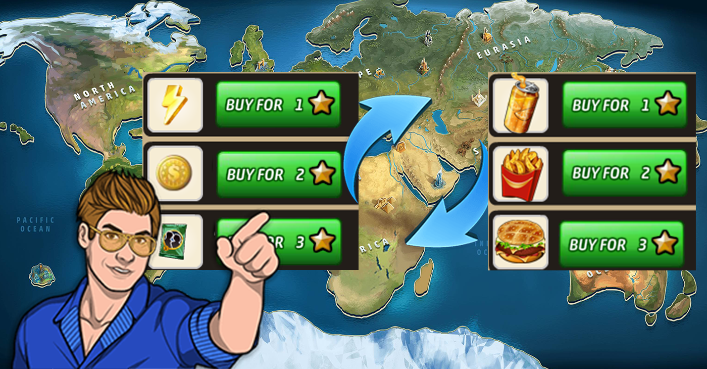 trade Your Criminal Case Save The World Stars For Free Energy